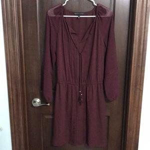 White House Black Market Long Sleeve Blouse Dress
